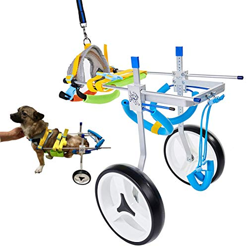 Adjustable Dog Cart/Wheelchair, for Pet/Doggie Wheelchairs with Disabled Hind Legs Walking,Light Weight(7-Size)(M)