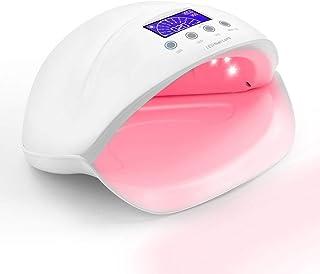 Secador de uñas LED UV sin dolor, secador de esmalte de uñas Lámpara de fotocurado con lámpara de sensor de infrarrojos Placa inferior extraíble 4 temporizadores Pantalla táctil,Blanco