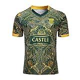 Maillot de Rugby sud-Africain, Chemise de Rugby 100% Polyester, Maillots de Fan de Rugby, T-Shirt à Domicile et à l'extérieur, vêtements de Sport de football-F-3XL