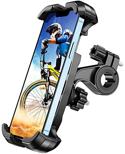 Cocoda Soporte Movil Bicicleta, [Operación Una Mano] Soporte Movil Moto con Rotación 360°,Soporte Movil Bici para Carrito Scooter MTB compatible con iPhone 13 Pro Max/Galaxy S21 y Otro 4.7-6.8' Móvil