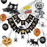 GIGALUMI Set di Decorazioni per Feste di Halloween 79 Pezzi, Set di Halloween Spaventoso per Feste per Bambini, Compleanno, Ghirlanda di Halloween