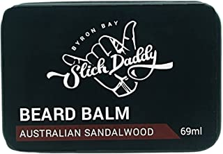 Beard Balm Sandalwood Scent with Jojoba Oil, Beeswax, Cocoa Butter & Vitamin E - Premium Quality, All Natural, Best Leave ...