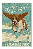Lantern Press Beagle - Retro Aviation Ad 54870 (500 Piece Premium Jigsaw Puzzle for Adults and Family, 13x19)