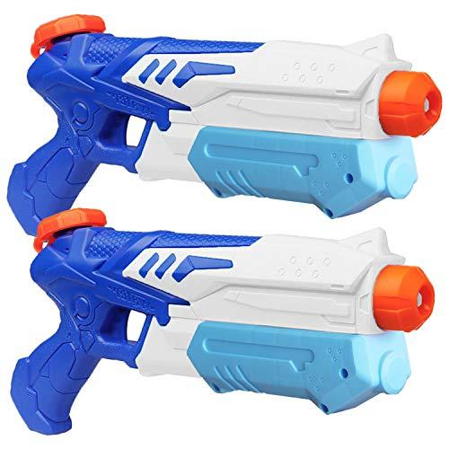 MeiGuiSha 2 Pack Water Gun Blaster High Capacity Water Soaker Blaster Squirt Toy Swimming Pool Beach...