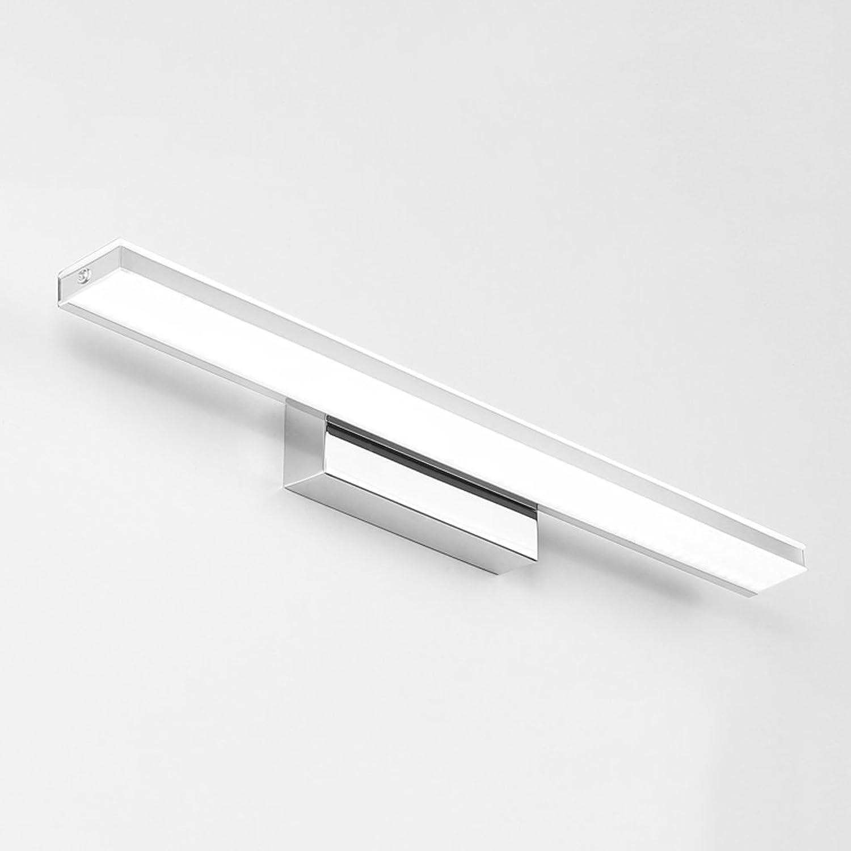LED Spiegel Licht, Waschbecken WC Badezimmer, Edelstahl Basis, Wasserdicht, Anti-Fog, Silber 14W62cm (24,4 Zoll)
