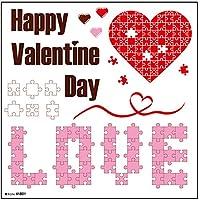 デコレーションシール Valentine Day パズル 41801 (受注生産) [並行輸入品]