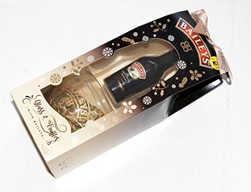 Bailey's Geschenkset irischer Creme-Likör 5cl (50ml), mit Tumbler und Trüffel