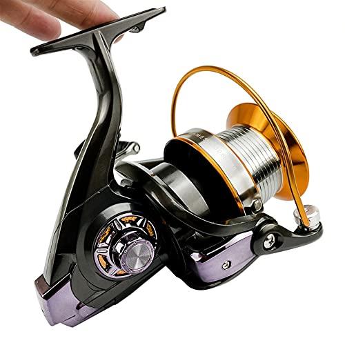 HNGM Carretes de Pesca Carrete de Pesca 12 + 1 BB Carrete de Metal Carrete de Hilado 5.2: 1/5.1: 1/4.1: 1 Relación de Engranajes Big Spinning Reel Carpa de Pesca de Carpa