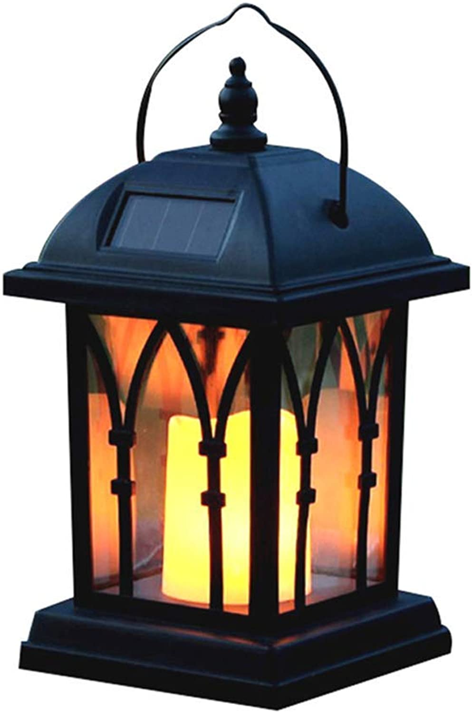 GENGJ-lampe LED Solar Wind Laterne Kronleuchter Hngen Licht Garten Kerze Tischlampe Garten Landschaft Licht