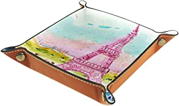 Eiffel Tower Drawing Painting Artwork Storage Box Cube Basket Bins Containers for Office Home