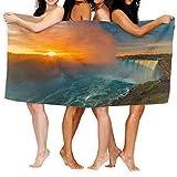 Leo-Shop Toalla de baño Cataratas del Niágara Cascada de Herradura Toalla de baño Envoltura Absorbente para Yoga Toalla de Playa
