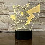 WoloShop Lampe LED Pokémon détective Pikachu - Changement de couleur USB...