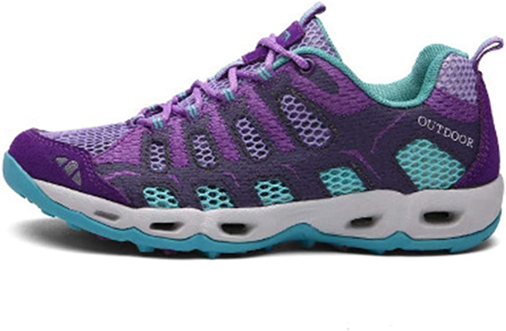 Women's Lightweight Mesh Hiking Shoes Outdoor Running Hiker Non-Slip Breathable Casual Trail Shoe Gray