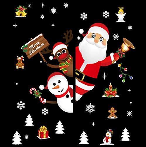 Y-Rachael 2 Juegos De Ventanas De Navidad Etiqueta De La Pared Pegatinas Decoraciones De Navidad Se Aferra Ventana Adhesivos para Baldosas De Cerámica De Windows Pared De Cristal