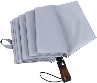Portable Folding Compact Umbrella,Reinforced Parasol Travel Umbrella Windproof,Mens and Womens Unisex,C