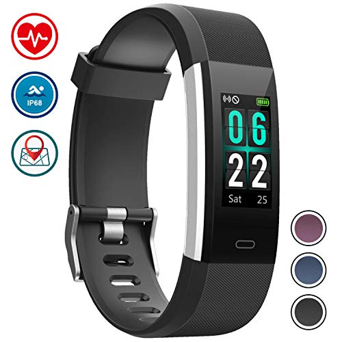 WOWGO Fitness Tracker Orologio Fitness Braccialetto Schermo a Colori Cardiofrequenzimetro da Polso IP68 Impermeabile Podometro Bracciale Smartwatch con 14 modalità Esercizio per Android iOS (Nero)