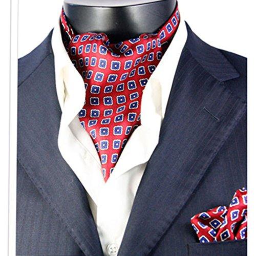 Cartucheras Organizadores de Herramientas Los Hombres Empate Caballeros de Doble Cara de impresión Traje de Bolsillo de Seda Bufanda Inglaterra Moda de la versión Coreana (Color : L)