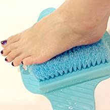 Healthstar Blue Foot Massager Scrubber for Shower Floor – Exfoliating Bristles, Easy to Clean and Use, Hangable Scrub Pad (Blue)