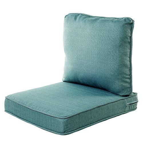 Quality Outdoor Living 29-AB02SB Chair Cushion, 22 x 25, Arctic Blue