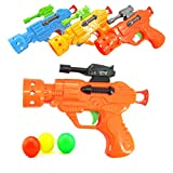 NUOBESTY Ping Pong Balls Shooting Toy Table Tennis Shooter Ball Blaster Guns Game Target Game Target Shoot Playset Summer Supplies Water Outdoor Toy Swimming Playset (Random Color)