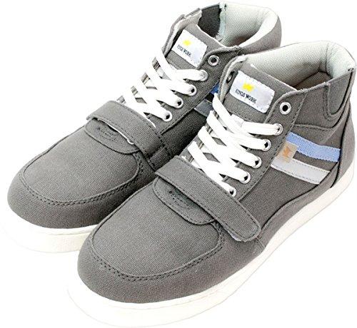 [MOCAP] 安全靴 レディース ハイカット おしゃれ 先芯入り 作業用 ベーシック 軽量 かわいい 作業靴 滑らない セーフティーシューズ グレー 22.5cm cpl364k