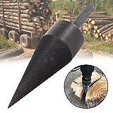 Trépan de fendage de bois de 38 mm, trépan de vis de fendeuse de bûches robuste Trépan de torsion de bois de chauffage à haute vitesse Vis de fendage Briseur de bois Outil de travail du bois