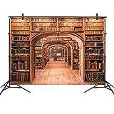 LB 背景布 2.7×1.8m/9x6ft 本棚柄(五) 図書館 ヴィンテージ風 レトロ 復古 写真撮影 バックペーパー 人物/商品撮影 背景シート 撮影スタジオ用 アイロンかけ可 折り畳み可 洗濯可能 新婚撮影