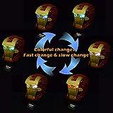 XUOO-Nachrüstendes Beleuchtungsset für LED-Beleuchtung für Lego 76165 Iron Man-Helm USB-Netzteil (ohne Lego-Modell)