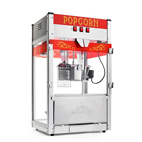 Product Image 3: Olde Midway Commercial Popcorn Machine Maker Popper with Large 12-Ounce Kettle – Red