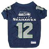 NFL Seattle Seahawks Jersey for PETS. - SEATTLE SEAHAWKS RAGLAN JERSEY '12th Man' - X-Large. CUTEST FOOTBALL...