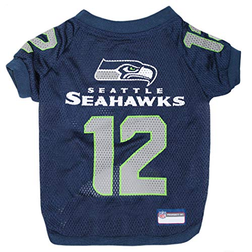 NFL Seattle Seahawks Jersey for PETS. - SEATTLE SEAHAWKS RAGLAN JERSEY '12th Man' - Medium. CUTEST FOOTBALL JERSEY for DOGS & CATS