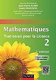 Mathématiques Tout-en-un pour la Licence 2 - Cours complet, exemples et exercices corrigés (Mathématiques