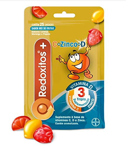 Redoxitos C+D+Zinco x 25 unidades, Redoxon, pacote de 25