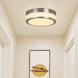 LED Ceiling Light Fixture,Auffel Minimalist Glass Flush Mount Lamp Morden Dimmable 9-Inch Round 3000K Warm White 1320LM Chandelier Elegant Island Light for Bathroom,Kitchen,Hallway,Porch