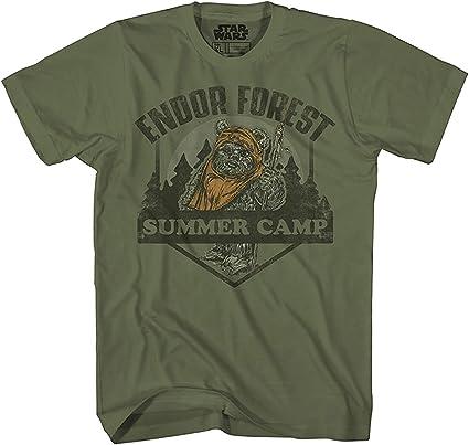 STAR WARS Endor Forest Summer Camp Ewok Endor Return Jedi Funny Humor Adult Tee Graphic T-Shirt for Men Tshirt