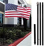 Flags Importer Black 10ft w/Ground Spike Outdoor Pole