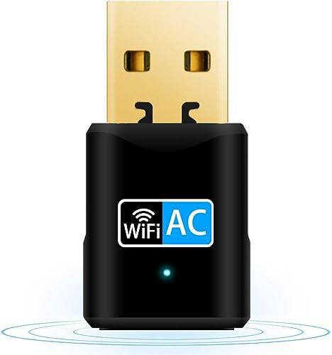 Adattatore WiFi USB 3.0 AC 1200Mbps Dongle 802.11 Con Dual Band Chiavetta WiFi 5Ghz 2.4Ghz WiFi Antenna Ad Alto Guadagno 5dBi Per Desktop PC Mac Compatibile Con Windows XP//7//8//8.1//10