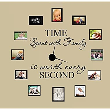TIME SPENT WITH FAMILY WITH WORTH EVERY SECOND #3, WALL DECAL, HOME DECOR 6