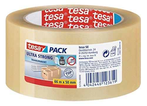 6 X tesa Packband PVC 66mx50mm transparent ULTRA STRONG 57176-00000