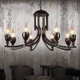 JIAHONG Araña Luces pendientes retro, lámpara de hierro y sencillo restaurante Estudio Bar Internet Lámparas for cafés y personalidad viviente luz de la habitación (Color : #1)