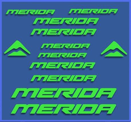 Ecoshirt S6-JRYK-APD4 Pegatinas Merida Dr1103 Bikes Stickers Aufkleber Decals Autocollants Adesivi MTB BTT, Verde