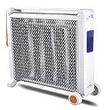 MAHZONG Radiador eléctrico 2200W Calentador de alta eficacia, 3 segundos de calor rápida, hogar calentador eléctrico de ahorro de energía, conveniente for el dormitorio, sala de estar, uso de la ofici