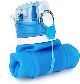 Valourgo 35 oz Collapsible Water Bottle, Large bpa Free Travel Water Bottle Reusable Water Bottle