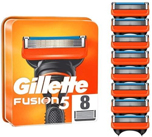 Gillette Fusion 5 Cuchillas de Afeitar Hombre, Paquete de 8 Cuchillas de Recambio