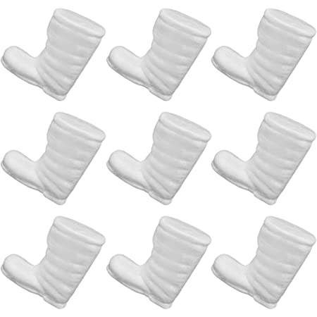 White 8.5cm KESYOO 20pcs Boots Shape Solid Foam Modelling Polystyrene Styrofoam Christmas Party Decoration Christmas DIY Craft Ornament Supplies