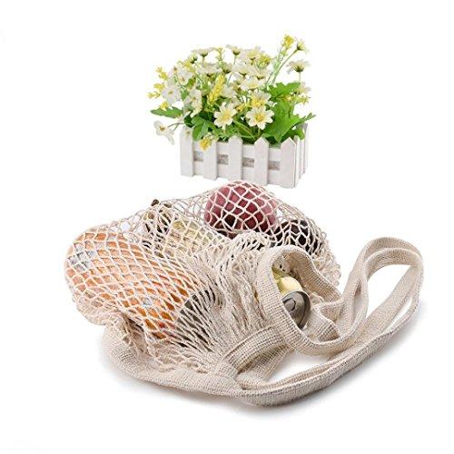 XShuai Sac à provisions fantaisie, sac à main en maille réutilisable, sac à main en forme de tortue, sac à main fourre-tout (blanc)