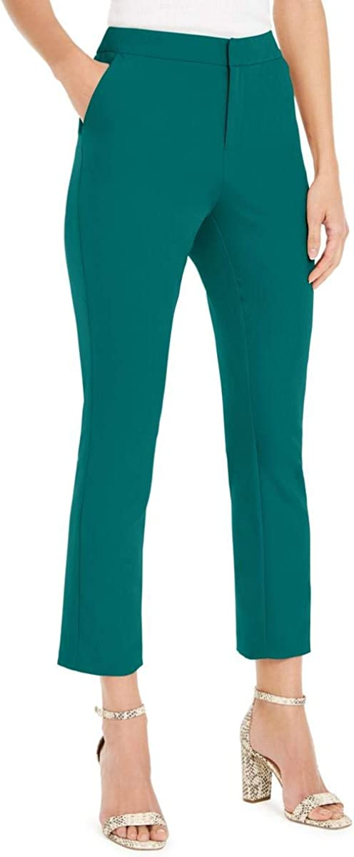 INC Womens Slim Leg Mid-Rise Ankle Pants Green 4