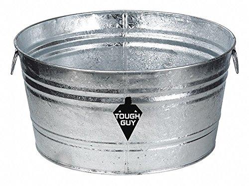 35 gal. Silver Galvanized Steel Utility Tub, 1 EA