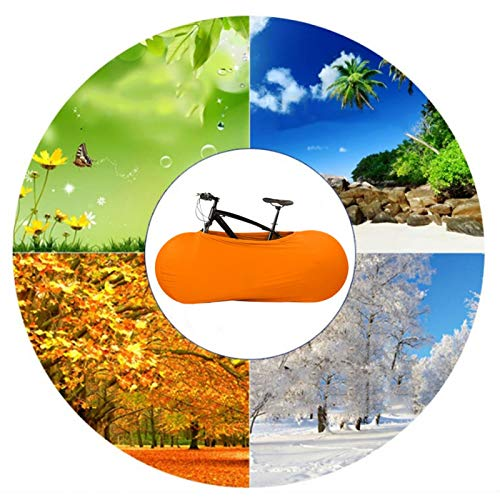 Meiyya Funda para Bicicleta Azul/Naranja, Funda Protectora para Bicicleta, para Ciclismo Funda Universal para Bicicleta Uso Interior y Exterior Ciclismo(Orange)