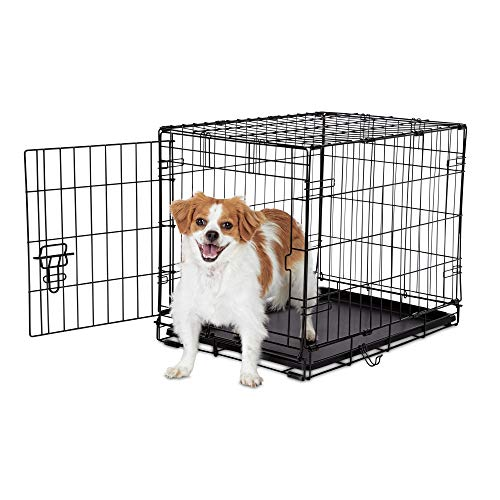 "Animaze 1-Door Folding Dog Crate, 24.5"" L x 17.5"" W x 19.5"" H, Small, Black Basic Crates"
